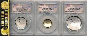 Click now to see the BUY IT NOW Price! 2014 S W P 67 COIN BASEBALL HOF SET PCGS FIRST PITCH BALT. MS/PR 70 X 6  ALL OGP