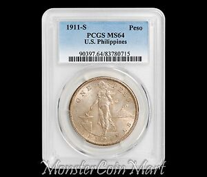 Click now to see the BUY IT NOW Price! 1911 S PESO PCGS MS64   US PHILIPPINES / UNITED STATES / USPI   NOW ON SALE