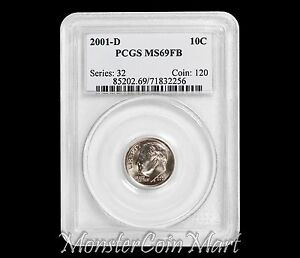 Click now to see the BUY IT NOW Price! 2001 D ROOSEVELT DIME PCGS MS69 FULL BANDS