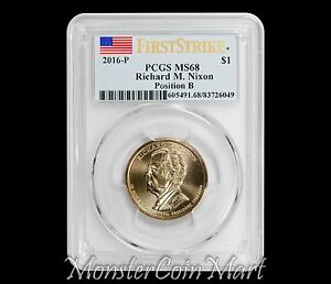 Click now to see the BUY IT NOW Price! 2016 P $1 RICHARD M. NIXON PRESIDENTIAL DOLLAR POSITION B PCGS MS68 FIRST STRIKE