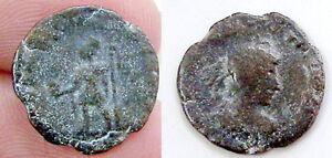 ANCIENT AUTHENTIC ORIGINAL ROMAN IMPERIAL COIN AE NUMMI  BLS2115 28