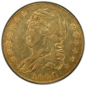 Click now to see the BUY IT NOW Price! 1808/7 $5 CAPPED BUST HALF EAGLE PCGS XF45