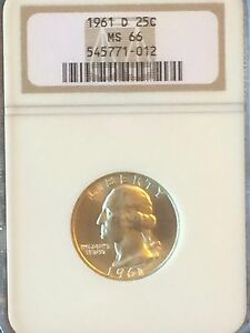 Click now to see the BUY IT NOW Price! WASHINGTON QUARTER 1961 D NGC MS 66