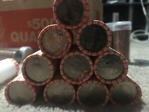 Click now to see the BUY IT NOW Price! LOT OF 10 2004P IOWA STATE QUARTER ROLLS BU FROM BANK BAGS