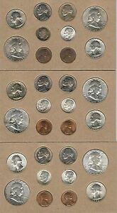 Click now to see the BUY IT NOW Price! 1952 P D S US DOUBLE MINT SET   30 CHOICE BRILLIANT UNCIRCULATED COINS  TONED