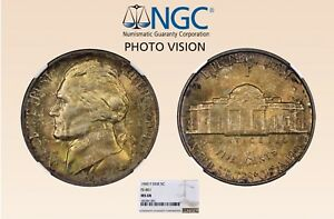 Click now to see the BUY IT NOW Price! 1945 P WARTIME JEFFERSON NICKEL DOUBLED DIE REVERSE FS 801 NGC MS68