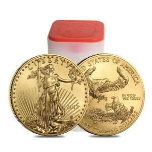 Click now to see the BUY IT NOW Price! ROLL OF 20   2017 1 OZ GOLD AMERICAN EAGLE $50 COIN BU  LOT TUBE OF 20