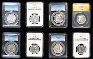 Click now to see the BUY IT NOW Price! 1950 1963 CERTIFIED COMPLETE PROOF AND SILVER FRANKLIN HALF DOLLAR SETS 50 COINS