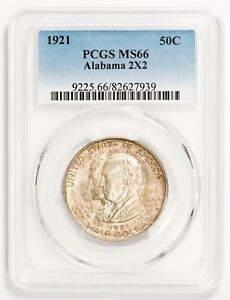 Click now to see the BUY IT NOW Price! 1921 50C SILVER COMMEMORATIVE ALABAMA 2X2 PCGS MS66