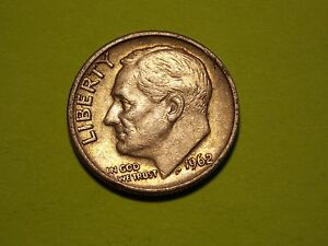 1962 D  US ROOSEVELT DIME   90  SILVER   BUSINESS CIRCULATED          MM68