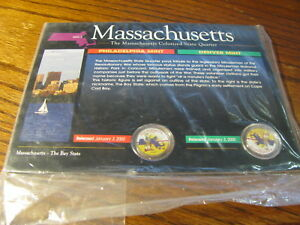2000 MASSACHUSETTS COLORIZED STATE QUARTER SET W/ COA