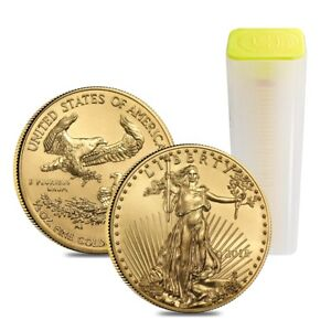 Click now to see the BUY IT NOW Price! ROLL OF 40   2018 1/2 OZ GOLD AMERICAN EAGLE $25 COIN BU  LOT TUBE OF 40