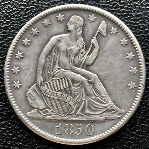 1850 O SEATED LIBERTY HALF DOLLAR 50C NEW ORTLEANS  6703