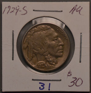1929 S BUFFALO INDIAN HEAD NICKEL   AU/ ALMOST UNCIRCULATED
