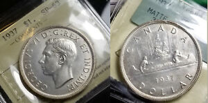 Click now to see the BUY IT NOW Price! CANADA 1937 DOLLAR  FULL RIMS  SPECIMEN STRIKE MATTE ICCS SPECIMEN 63