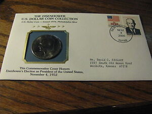 THE EISENHOWER U.S. DOLLAR COIN COLLECTION W/ STAMPS 1976 P