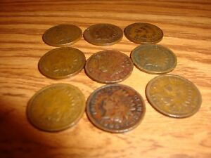 9 INDIAN HEAD CENTS 1900 1901 1902 1903 1904 1905 1906 2 FROM 1907