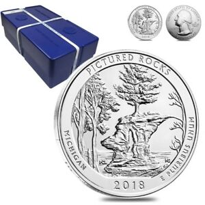 Click now to see the BUY IT NOW Price! MONSTER BOX OF 100   2018 5 OZ SILVER AMERICA THE BEAUTIFUL ATB PICTURED ROCKS