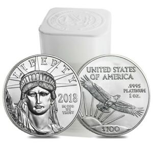 Click now to see the BUY IT NOW Price! ROLL OF 20   2018 1 OZ PLATINUM AMERICAN EAGLE $100 COIN BU  LOT TUBE OF 20
