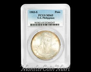 Click now to see the BUY IT NOW Price! 1903 S PESO PCGS MS65   US PHILIPPINES / UNITED STATES / USPI   NOW ON SALE