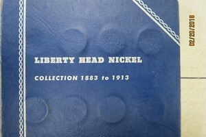 Click now to see the BUY IT NOW Price! LIBERTY HEAD NICKEL COLLECTION 1883 1913 32 COINS IN WHITMAN FOLDER