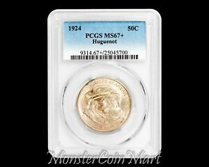 Click now to see the BUY IT NOW Price! 1924 HUGUENOT SILVER COMMEMORATIVE HALF DOLLAR PCGS MS67