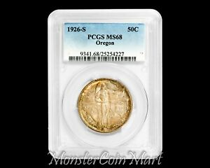 Click now to see the BUY IT NOW Price! 1926 S OREGON SILVER COMMEMORATIVE HALF DOLLAR PCGS MS68   ONLY 1 GRADED HIGHER