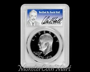 Click now to see the BUY IT NOW Price! 1976 S CLAD TYPE 2 EISENHOWER DOLLAR PCGS PR70DCAM   DAVID HALL AUTOGRAPH
