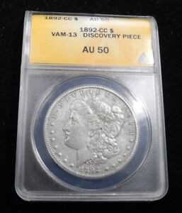 Click now to see the BUY IT NOW Price! 1892 CC MORGAN SILVER DOLLAR $1 VAM 13 DISCOVERY PIECE ANACS AU 50 ONE OF A KIND
