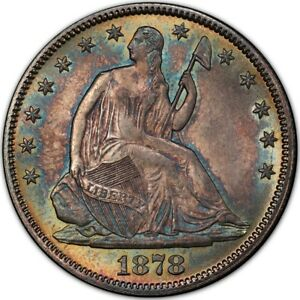 Click now to see the BUY IT NOW Price! 1878 50C LIBERTY SEATED HALF DOLLAR PCGS MS66   CAC