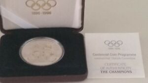 1996 AUSTRALIA OLYMPIC THE CHAMPIONS COMMEMORATIVE PROOF SILVER $20 COIN