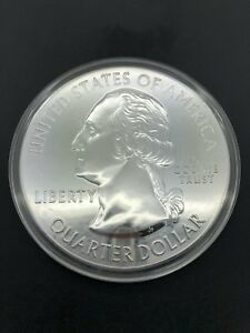 2015 AMERICA THE BEAUTIFUL ATB 5OZ SILVER BOMBAY HOOK DELAWARE COIN