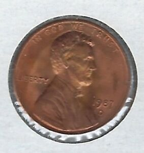 1987 D BU LINCOLN CENT