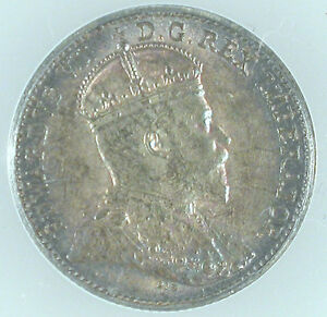 Click now to see the BUY IT NOW Price! 1909 CANADA 5 CENTS POINTED MAPLE LEAFS MS 62 ANACS CERTIIFIED