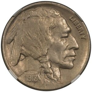 Click now to see the BUY IT NOW Price! 1918/7 D BUFFALO NICKEL TYPE 2 5C NGC AU55
