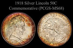 Click now to see the BUY IT NOW Price! 1918 LINCOLN SILVER COMMEMORATIVE HALF DOLLAR PCGS MS68   ONLY 2 GRADED HIGHER