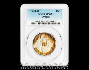 Click now to see the BUY IT NOW Price! 1938 D OREGON SILVER COMMEMORATIVE HALF DOLLAR PCGS MS68    ONLY 3 GRADED HIGHER