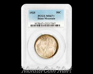 Click now to see the BUY IT NOW Price! 1925 STONE MOUNTAIN SILVER COMMEMORATIVE HALF DOLLAR PCGS MS67