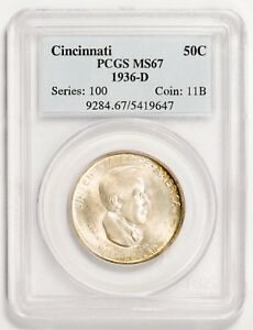Click now to see the BUY IT NOW Price! 1936 D 50C SILVER COMMEMORATIVE CINCINNATI PCGS MS67