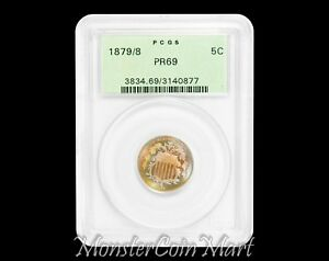 Click now to see the BUY IT NOW Price! 1879/8 SHIELD NICKEL PCGS PR69   ONLY 69 GRADE SHIELD NICKEL EVER GRADED BY PCGS