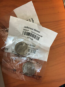 LITTLETONCOIN MINT JEFFERSON NICKEL 2003 P UNCIRCULATED 60 5174.60 LOT OF 3