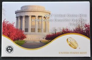 2017 S AMERICA THE BEAUTIFUL QUARTER 5 COIN PROOF SET WITH BOX AND COA
