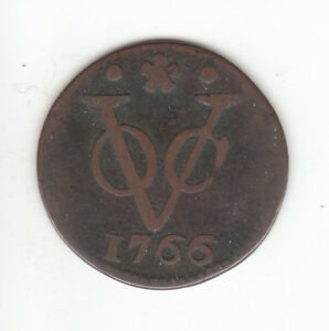 1766 DUTCH NEW YORK PENNY HOLLAND ARMS 1 DUIT COLONIAL COIN. .