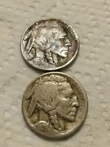 LOT OF 2  1928 S 1929 S BUFFALO NICKEL SAME IN PICTURE YOU WILL RECEIVE.