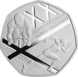2014 50P COIN THE GLASGOW 2014 COMMONWEALTH GAMES