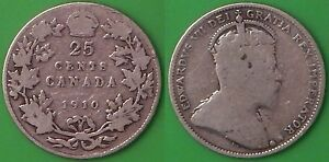 1910 CANADA SILVER QUARTER GRADED AS GOOD
