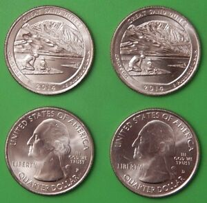2014 US GREAT SAND DUNES PARK QUARTER SET ONE P&ONE D FROM MINT ROLLS