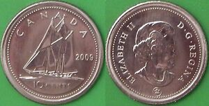 2009 CANADA DIME GRADED AS SPECIMEN FROM ORIGINAL SET