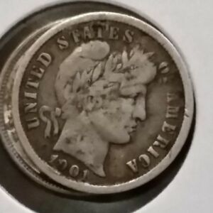 Click now to see the BUY IT NOW Price! 1901 VG BARBER LIBERTY DIME  10