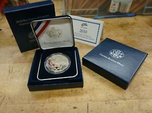 2010 BOY SCOUTS OF AMERICA CENTENNIAL PROOF SILVER DOLLAR  BY1  US MINT WITH COA